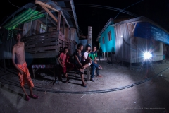 Mabul village after dark