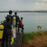 Aktiviti sukan selam rekreasi air tawar di Tasik Bandar Saujana Putra