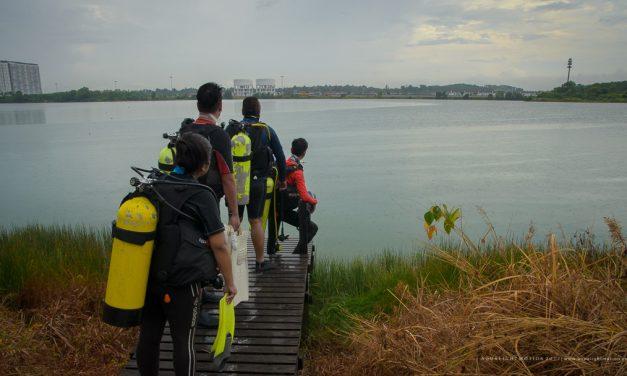 Fresh water diving at Lake Saujana Putra