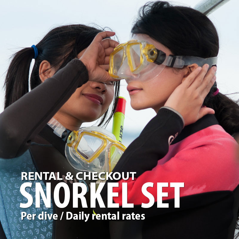 Snorkeling sets gear rental