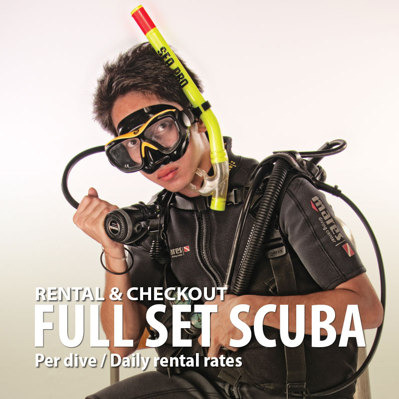SCUBA diving gear rental